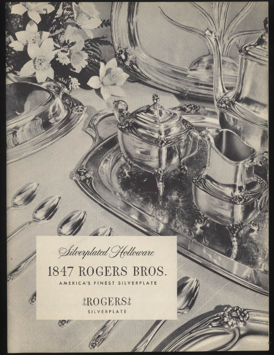 1847 Rogers Bros Silverplated Holloware catalog 1946