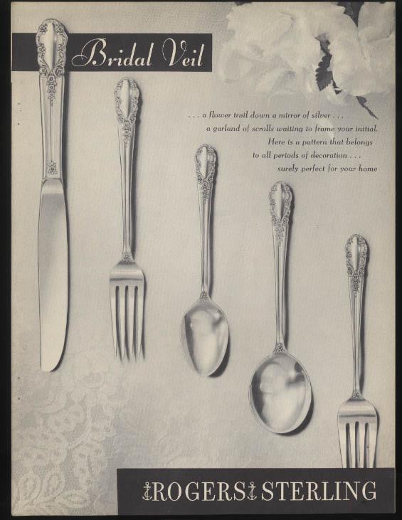 1847 Rogers Bros Bridal Veil brochure catalog 1945