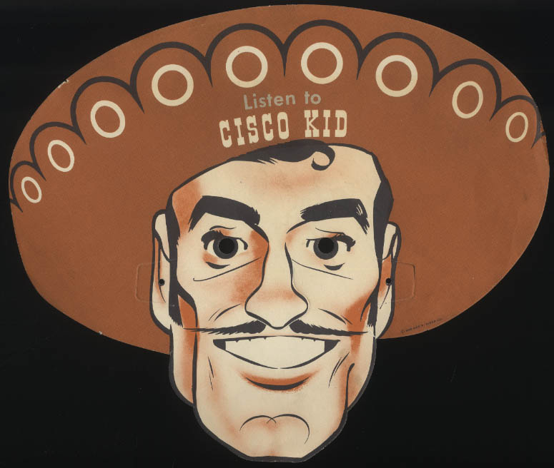 Cisco Kid Radio & Television paper mask 1949 Butter-nut Bread WDAF KCMO