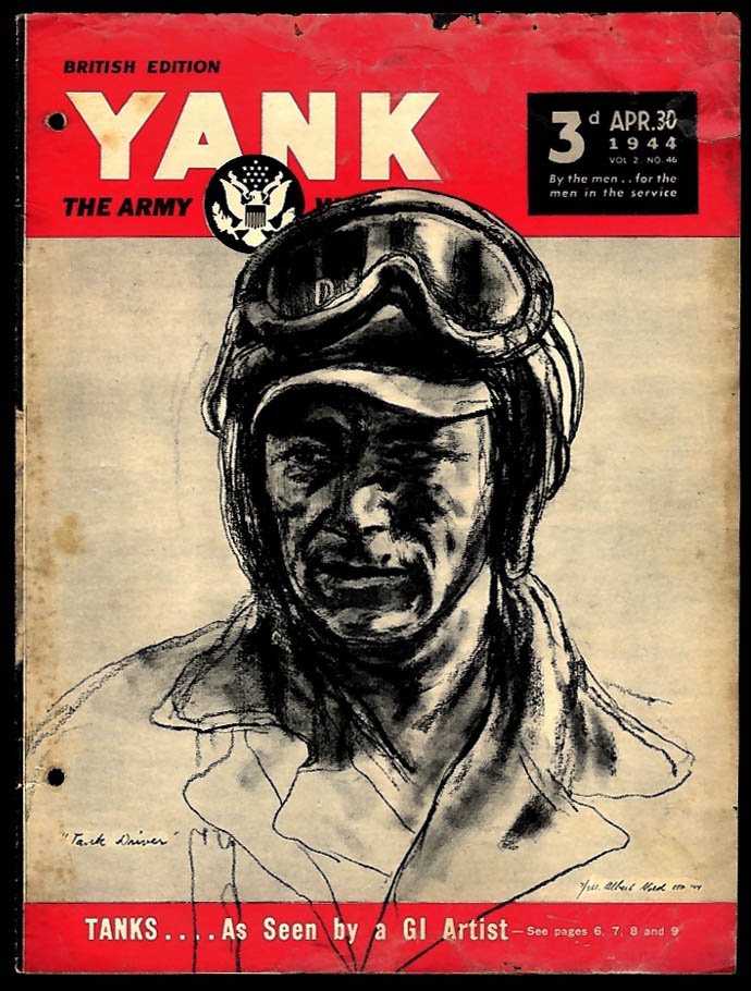 YANK 4/30 1944 Albert Gold's Tanks; helicopter; Gil Dodds; Leslie Brooks