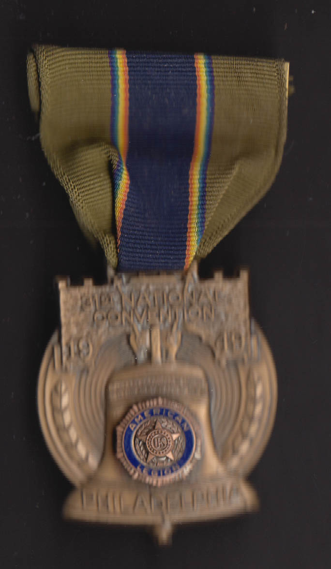 American Legion 31st National Convention Philadelphia ribbon & medal 1949