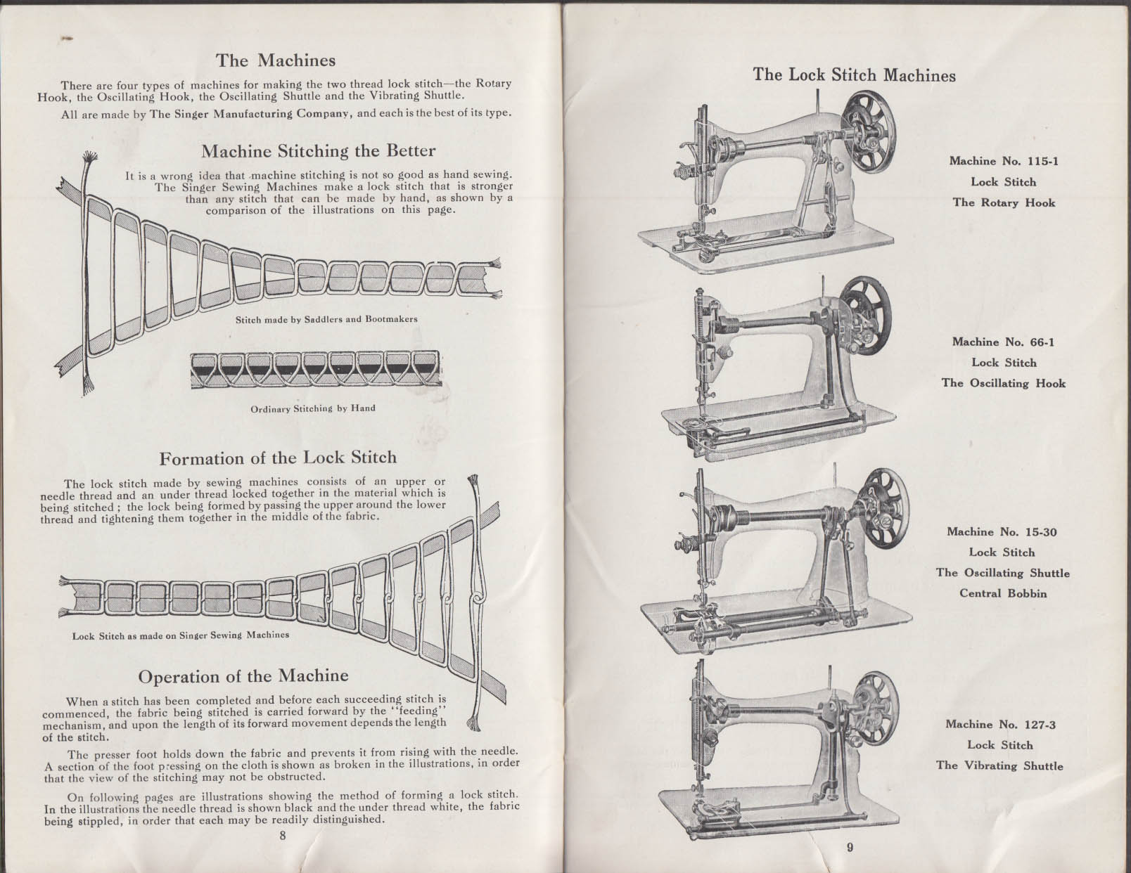Singer Manual of Family Sewing Machines 11 1915