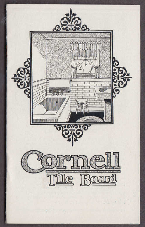 Cornell Wood Products Tile Board sales booklet ca 1910s