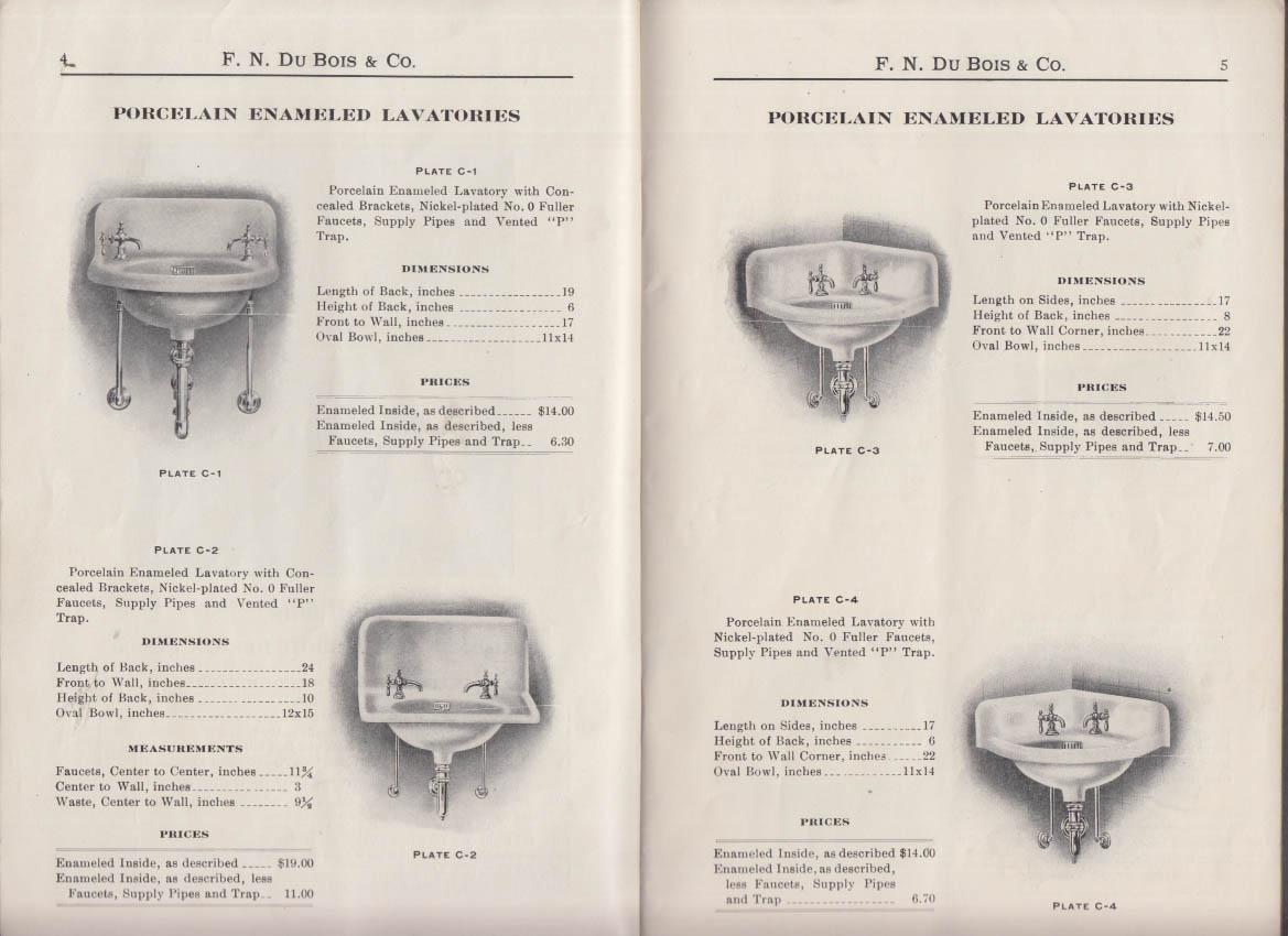 F N Du Bois Plumbing Goods Catalogue C 1912 pipe faucet toilet sink tub