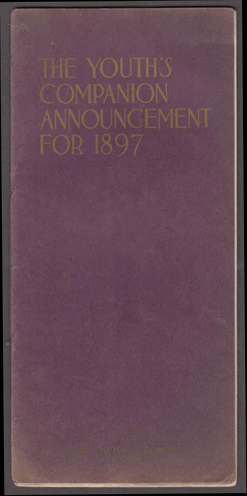 Youth's Companion Announcement 1897 booklet Stephen Crane Pinchot Carnegie +