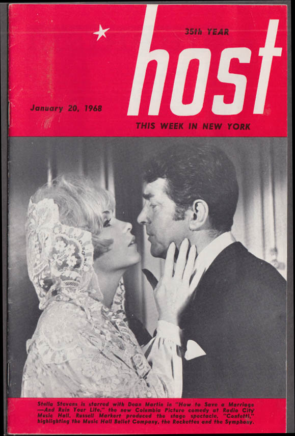 HOST This Week in New York 1/20 1968 Dean Martin Stella Stevens et al