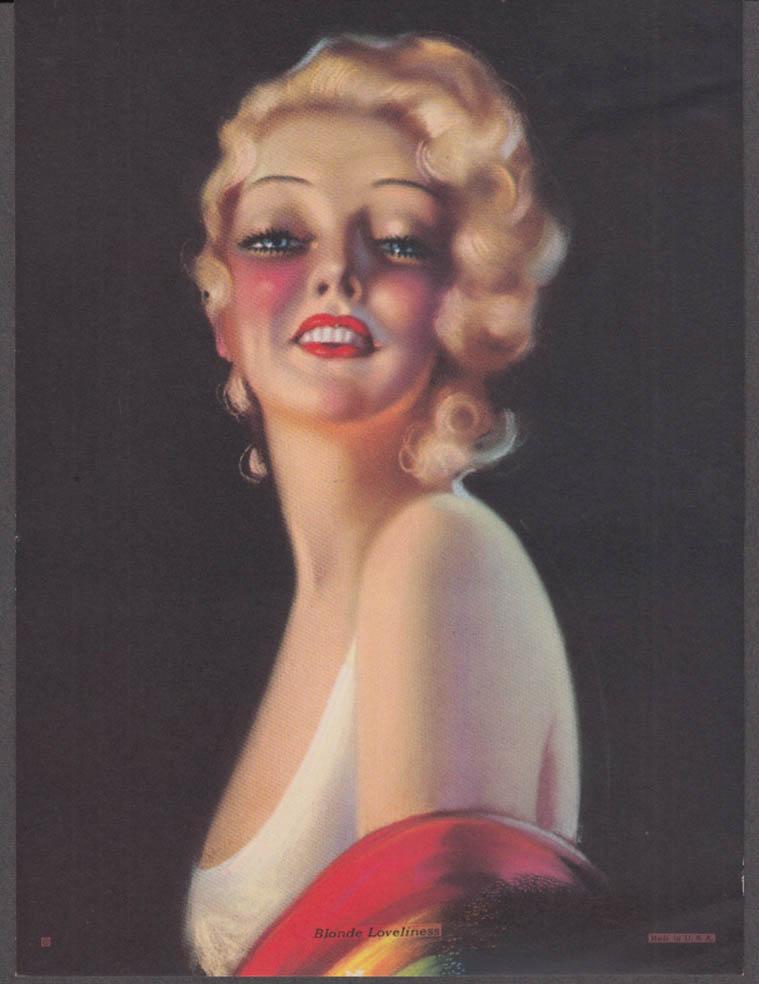 Billy de Vorss Blonde Loveliness pin-up calendar print 1940s