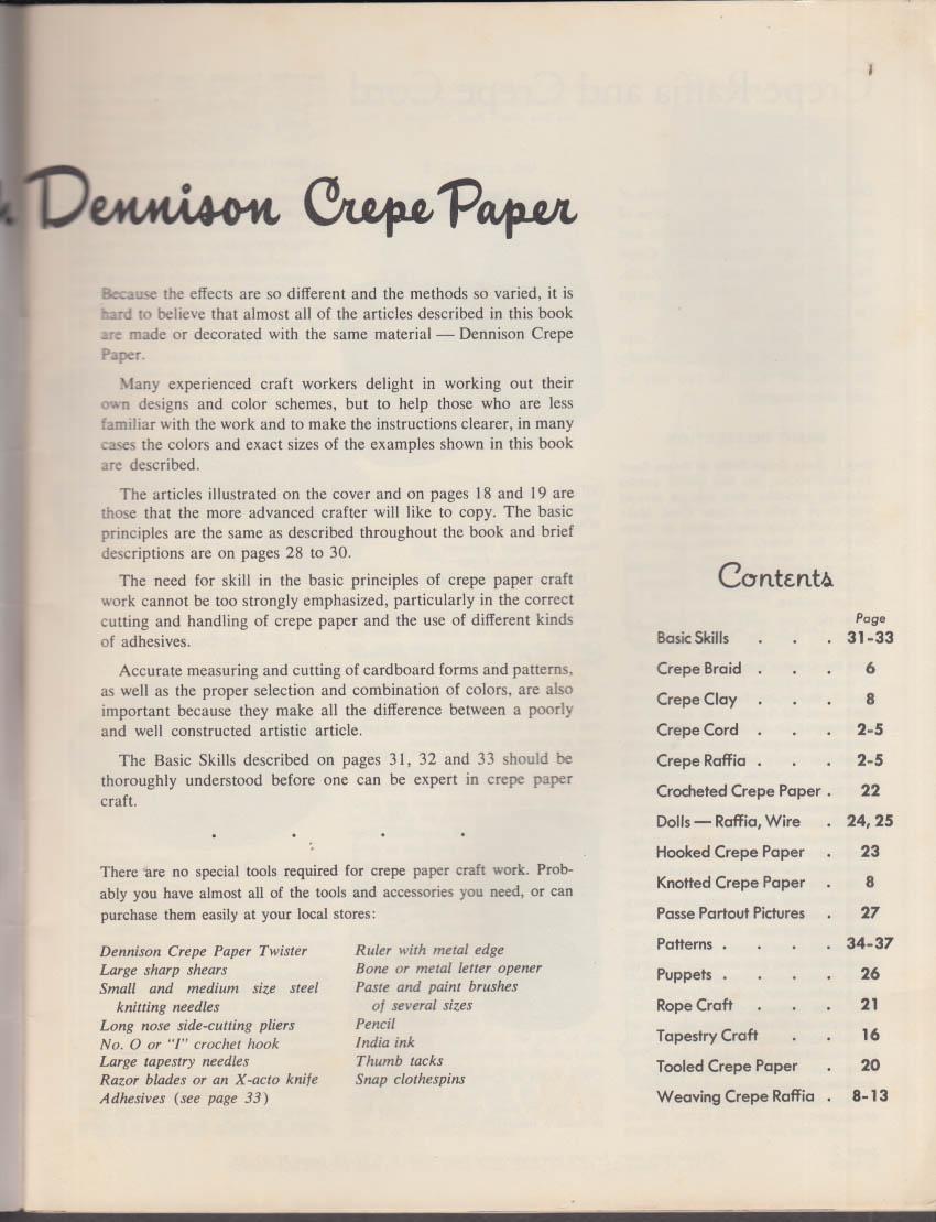 Handcraft with Dennison Crepe Paper booklet 1951