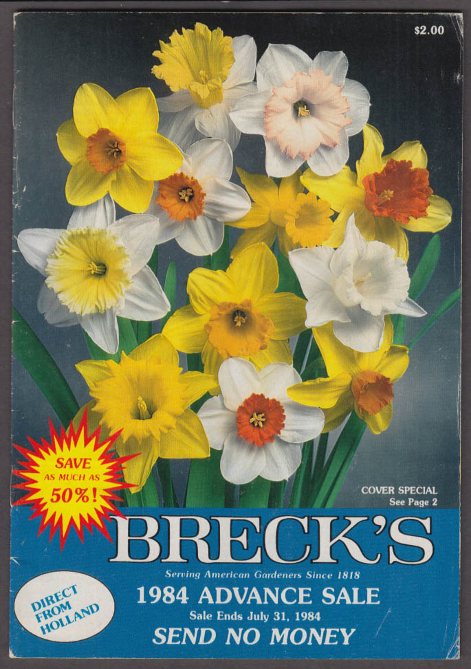 Breck's Flower Seed Catalog 1984 Advance Sale ends 7/31 1984