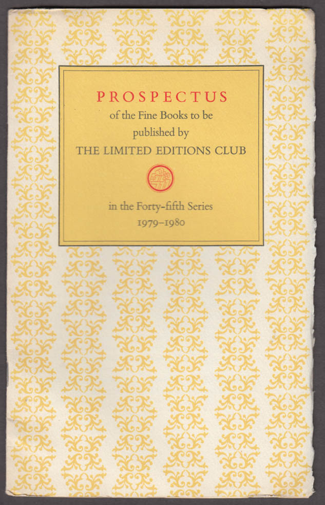 Limited Editions Club Prospectus 54th Series 1979-1980