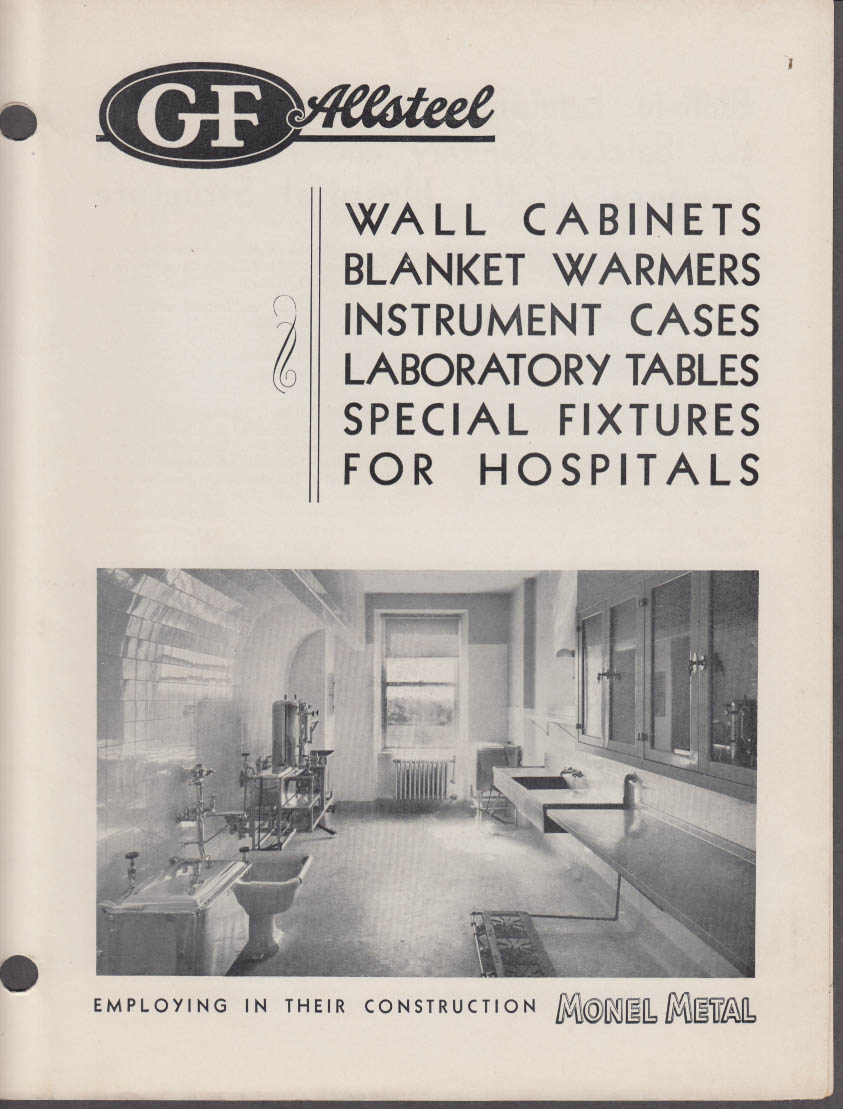 General Fireproofing Catalog: Allsteel Fixtures for Hospitals 1936