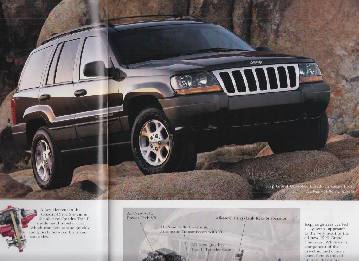 1999 Jeep Sales Brochure Grand Cherokee Wrangler
