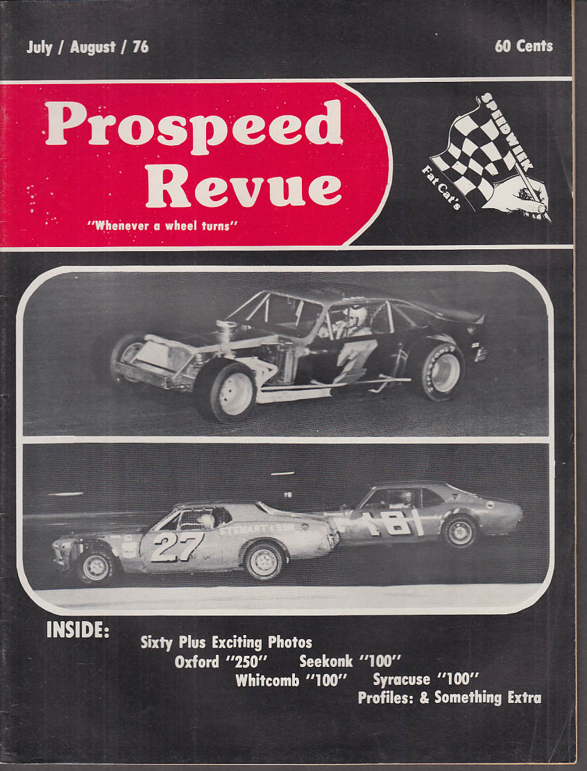 SPEEDWEEK PROSPEED REVIEW NASCAR Modifieds 7-6 1976 Seekonk Whitcomb Syracuse