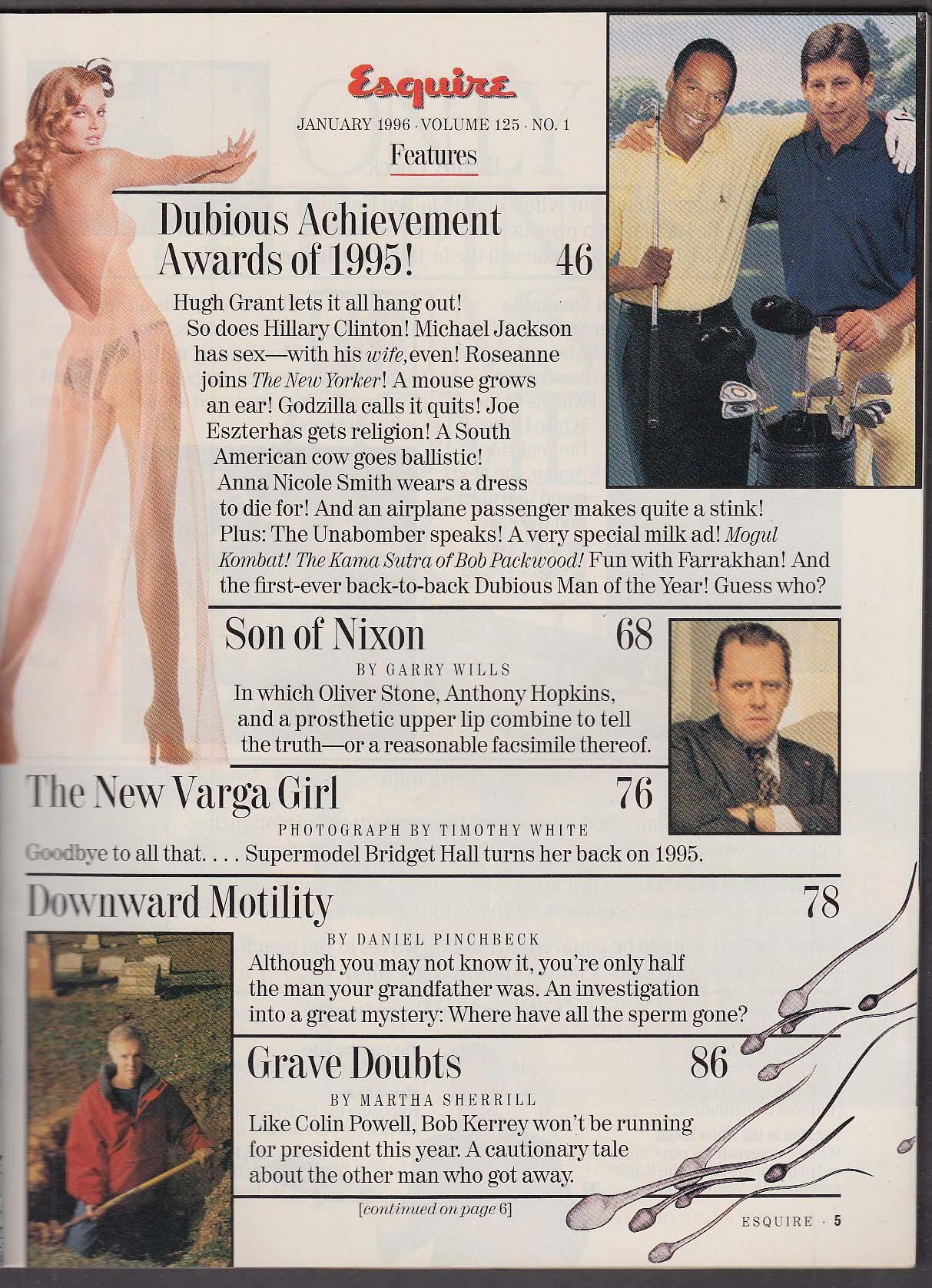 ESQUIRE Unabomber Hugh Grant Farrakhan Anna Nicole Smith 1 1996