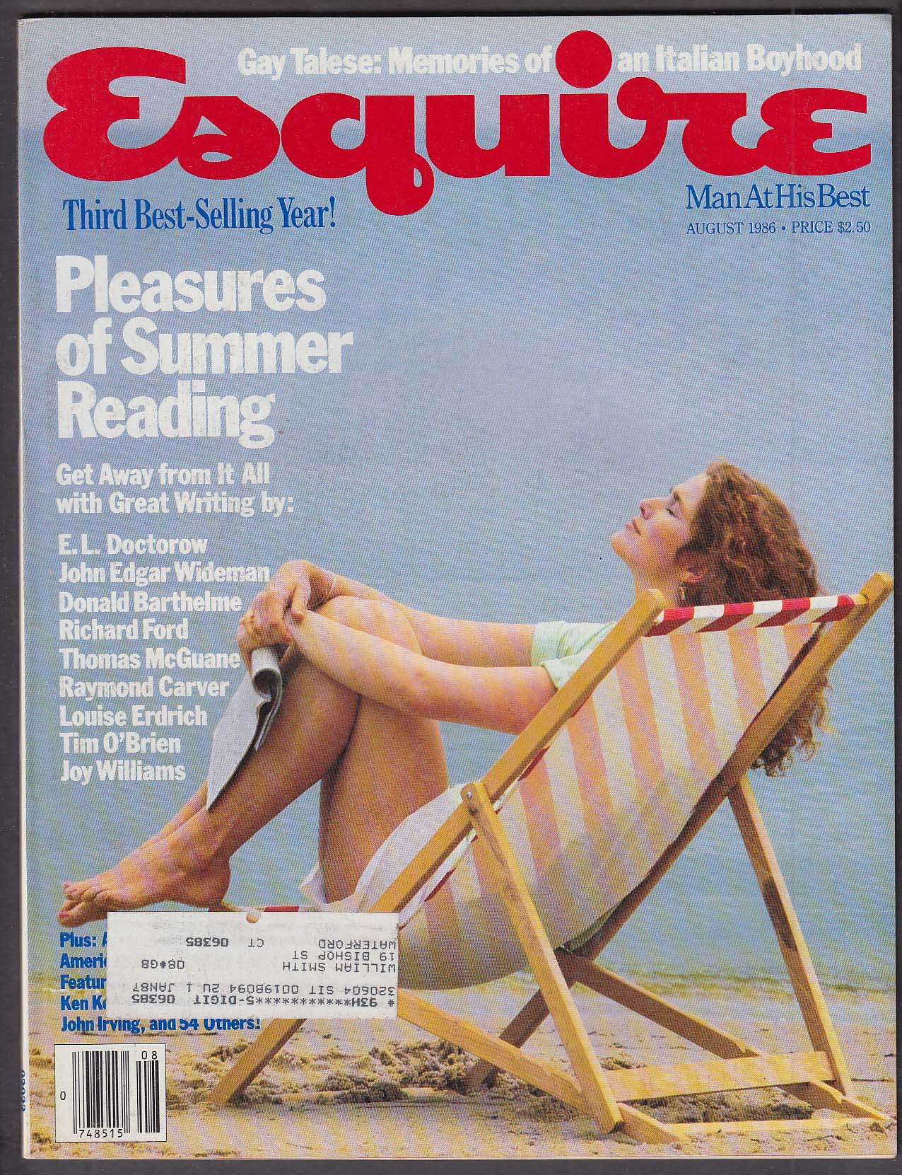 ESQUIRE E L Doctorow Gay Talese Raymond Carver ++ 8 1986