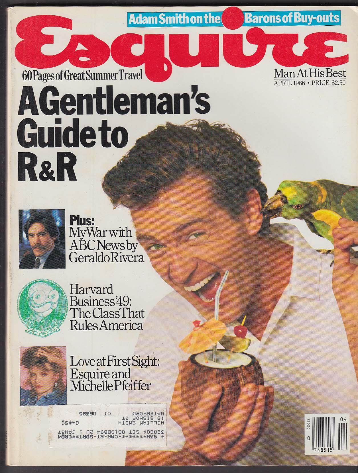 ESQUIRE Geraldo Rivera Adam Smith Michelle Pfeiffer 4 1986