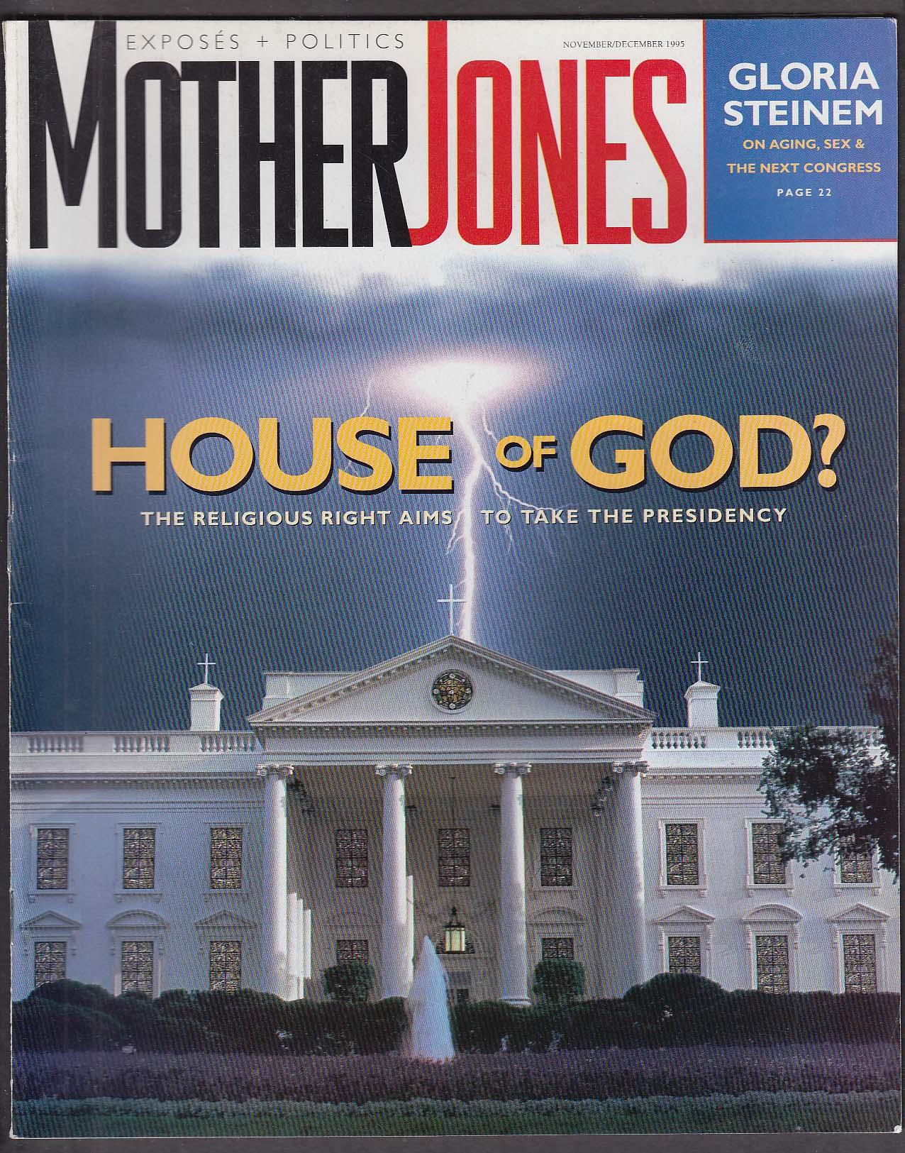 MOTHER JONES Gloria Steinem Christian Right Pete Wilson Jim Hightower 11-12 1995