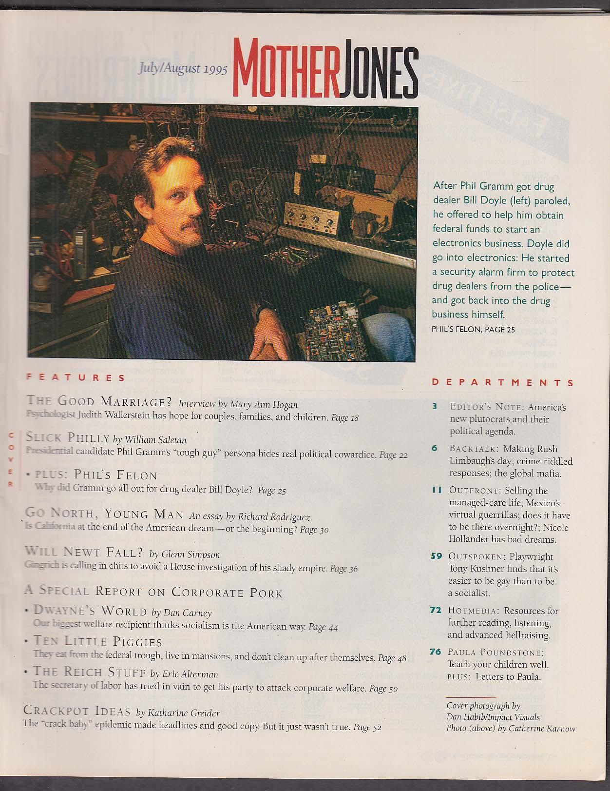 MOTHER JONES Phil Gramm Bill Doyle Newt Gingrich Tony Kushner ++ 7-8 1995
