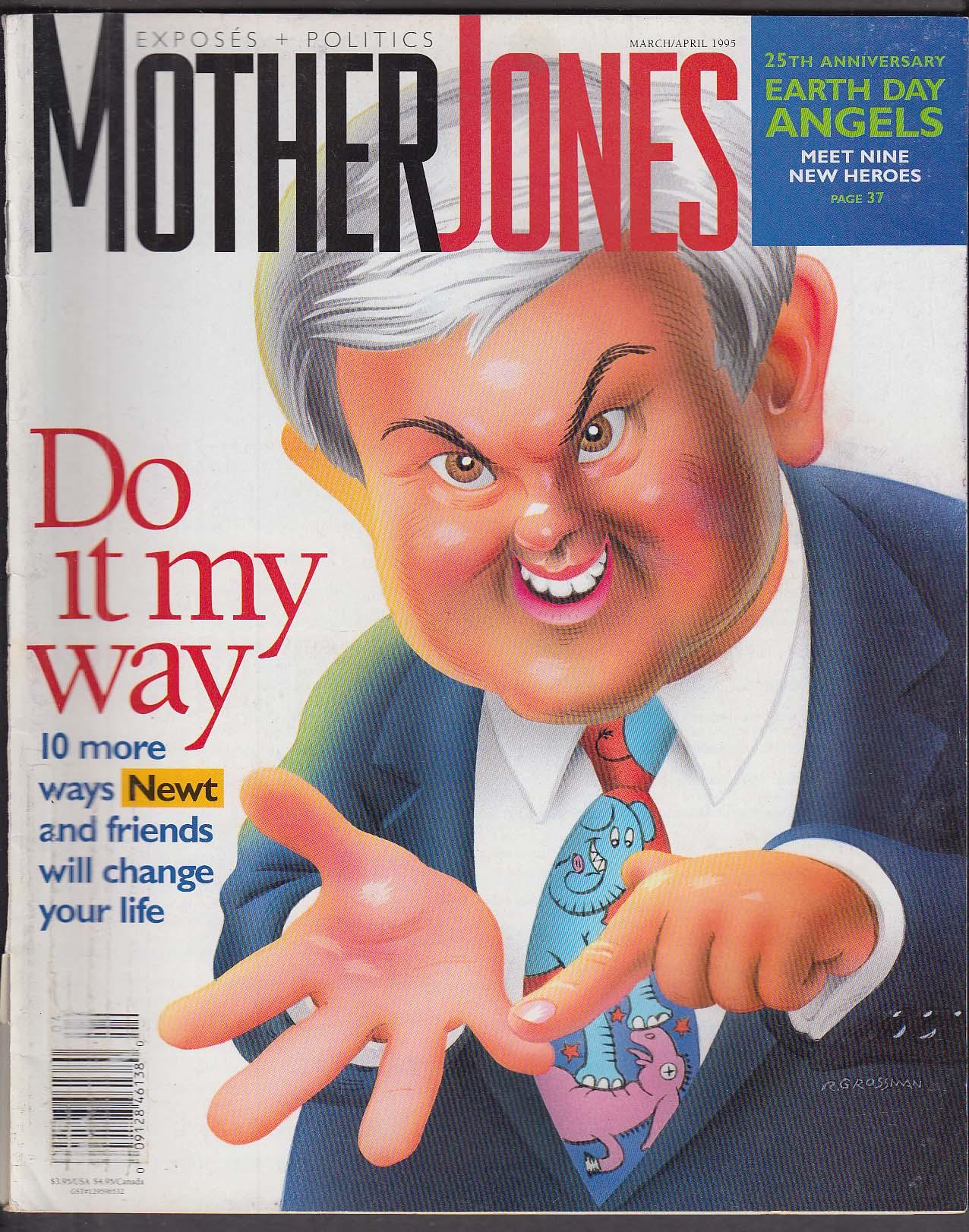 MOTHER JONES Newt Gingrich NRA Abortion Ntozake Shange Paula Poundstone 3-4 1995