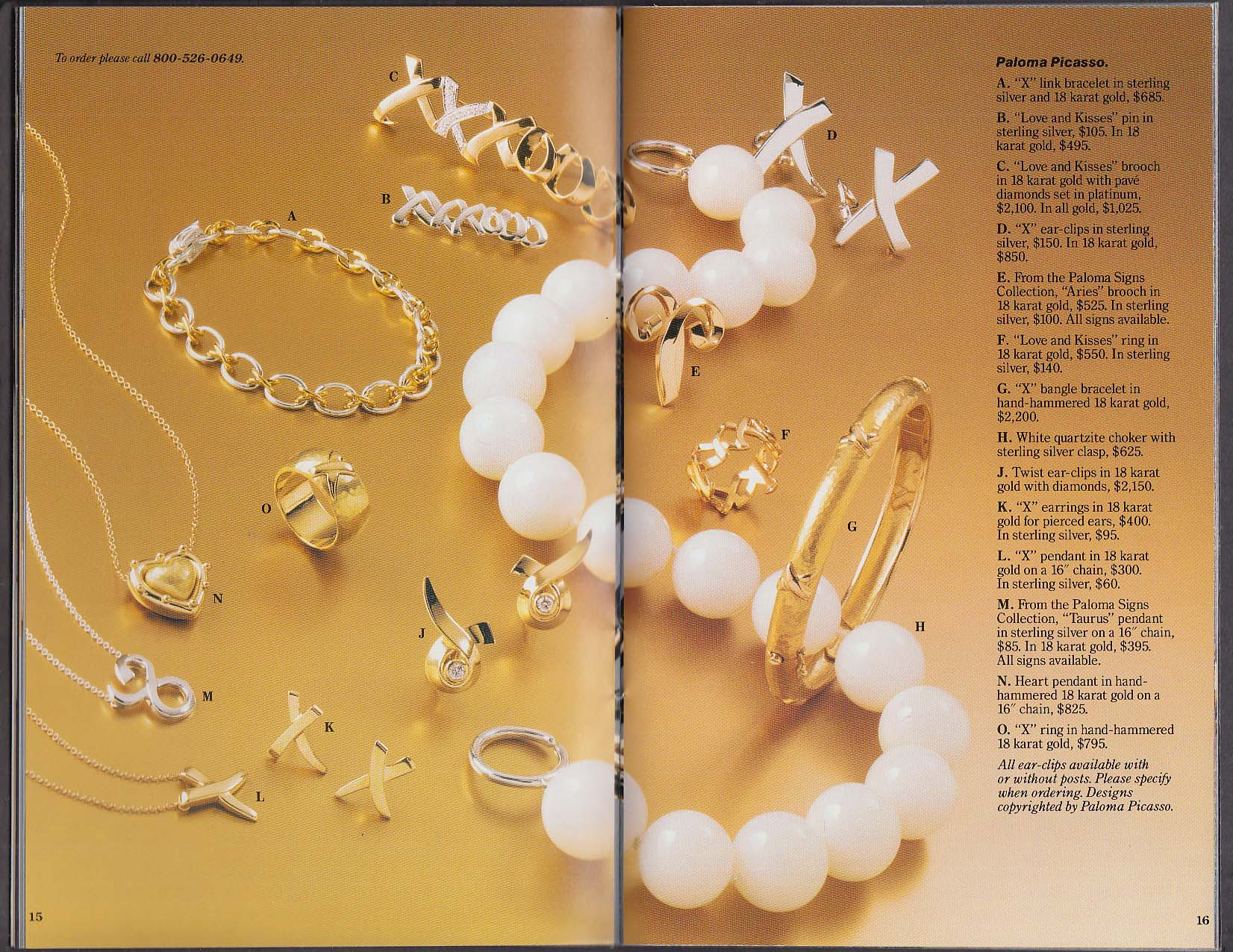 Tiffany & Co Spring Selections 1992 catalog catalog