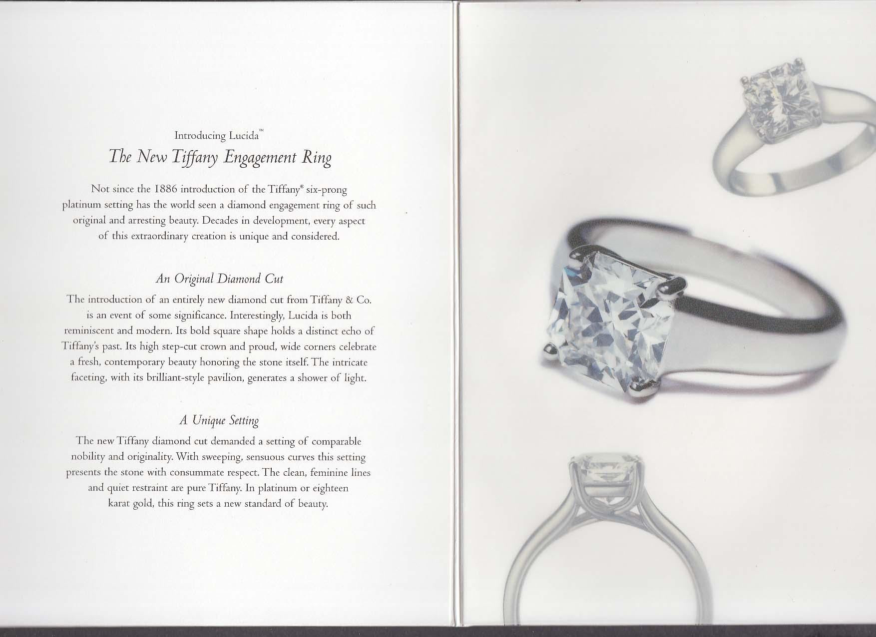 Tiffany & Co Selections catalog folder 1999