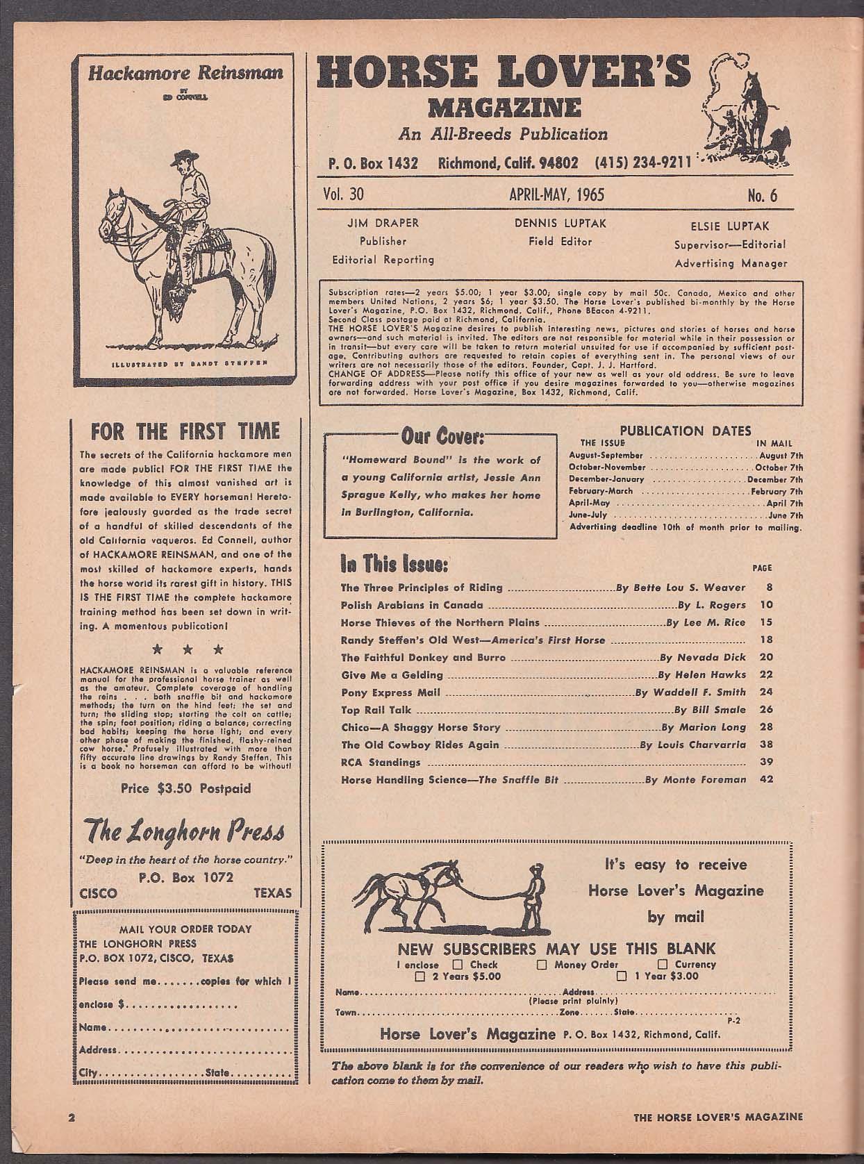 HORSE LOVER'S Polish Arabians in Canada Randy Steffen Chico ++ 4-5 1965