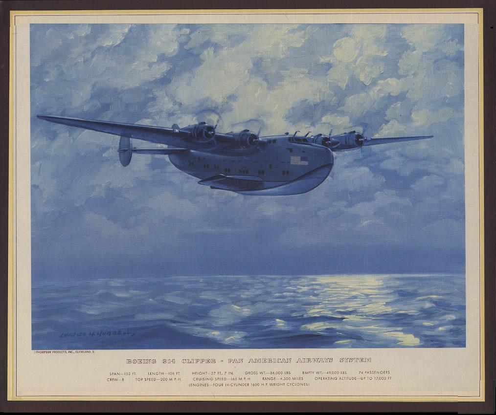 Pan American Airways Boeing 314 Clipper Hubbell print