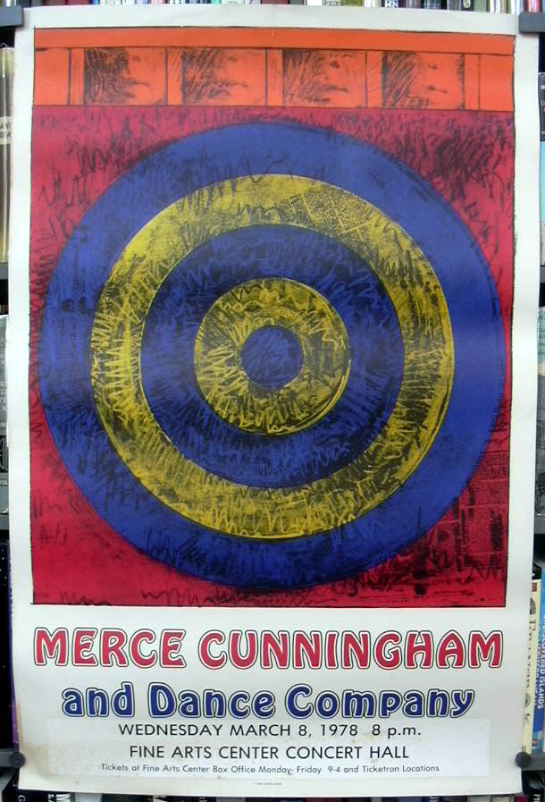 Jasper Johns Merce Cunningham & Dance Company 1968 Fine Arts Center 1978 Umass
