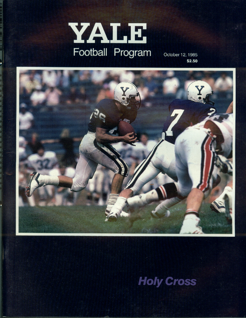 Holy Cross at Yale University college football program 10/12 1985