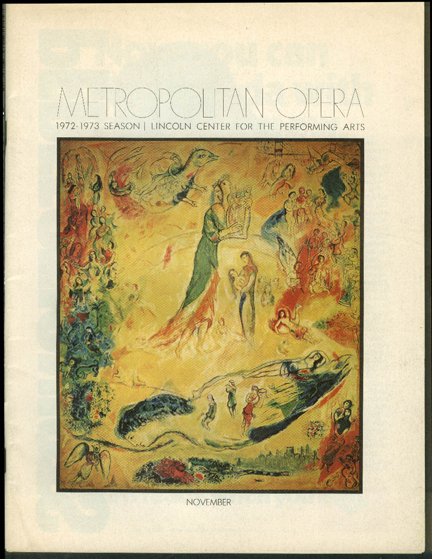 Metropolitan Opera Program La Boheme 1972 Scotto Gedda Goodloe Flagello +