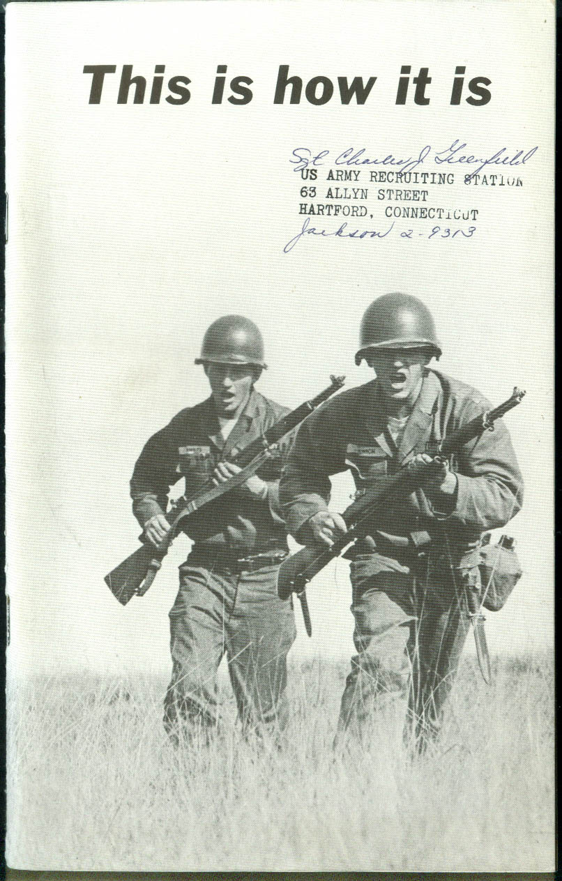 U S Army This is How It Is recruiting brochure 1961