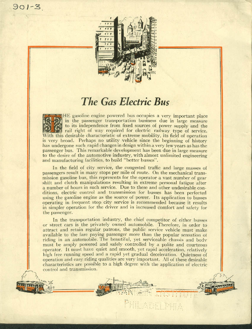 Image for The Westinghouse Gas Electric Bus sales folder 1929