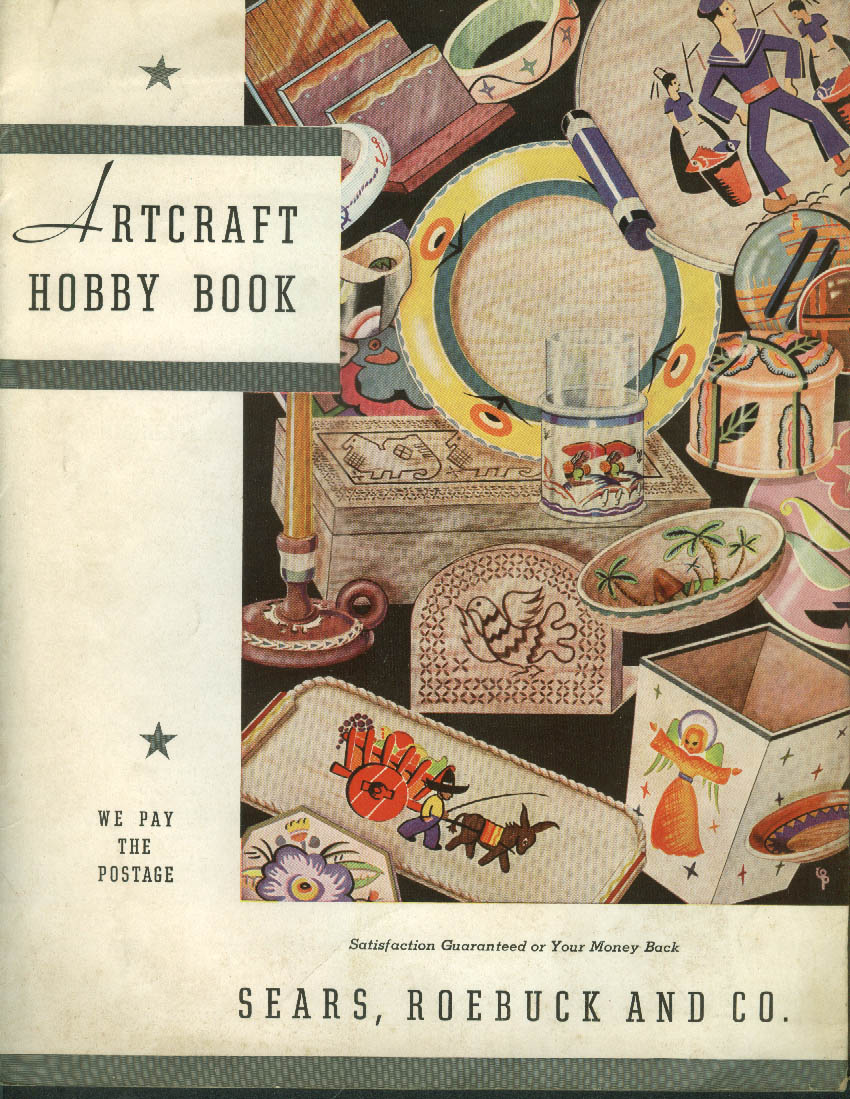 Sears Roebuck Artcraft Hobby Book catalog 1940