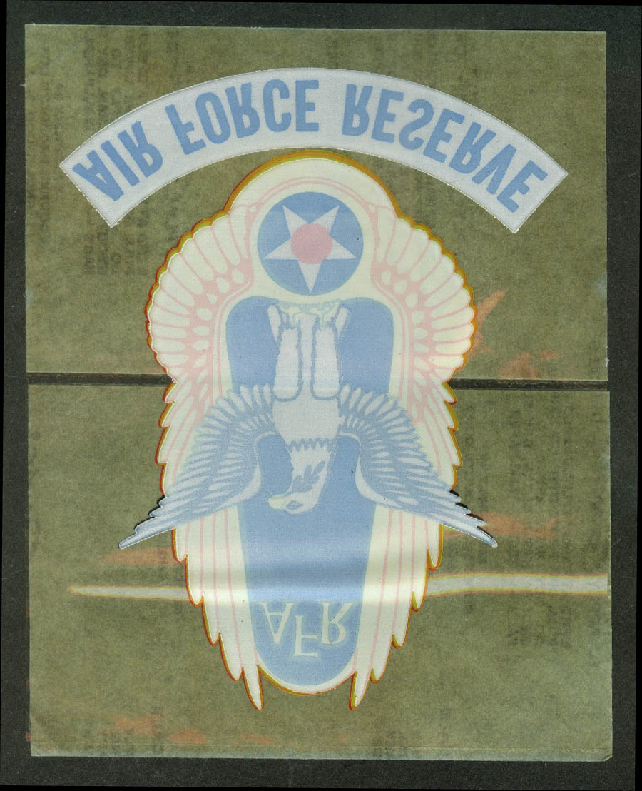 United States Air Force Reserve unused decal 1960s