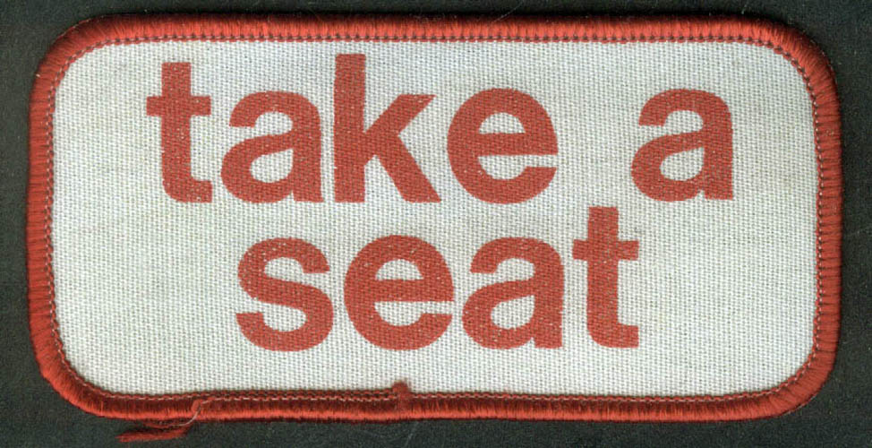 Take a SEAT transit embroidered patch 2x4""