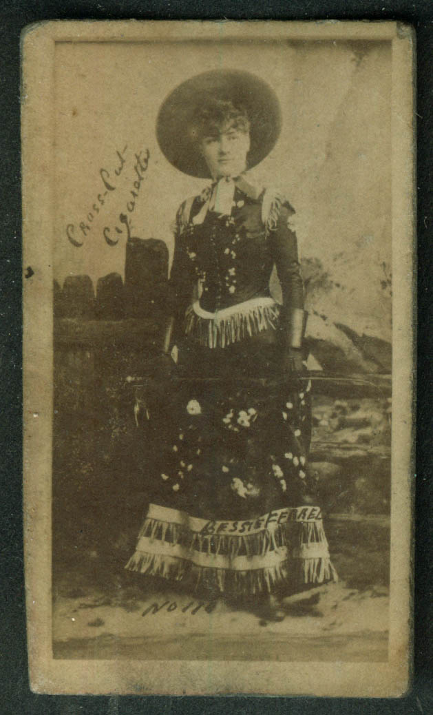 Cross Cut Cigarette theatre actress card N145 1880s Miss Bessie Ferrell