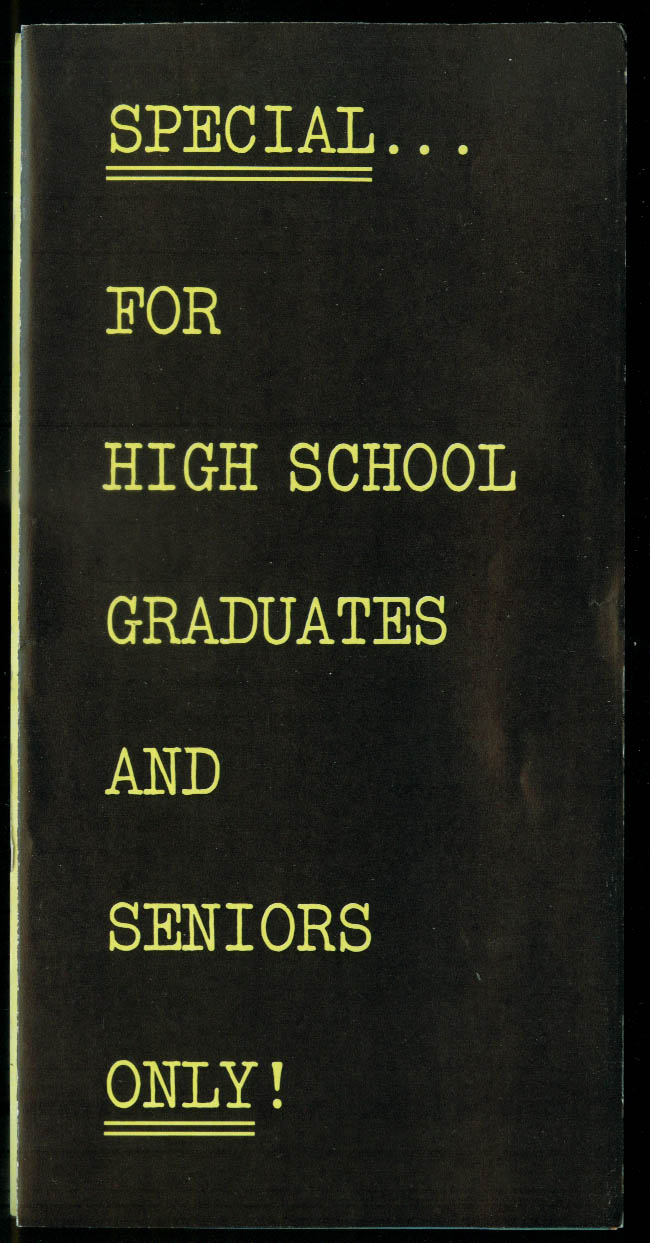US Army Pre-Enlistment Special High School Grads & Seniors folder 1960s