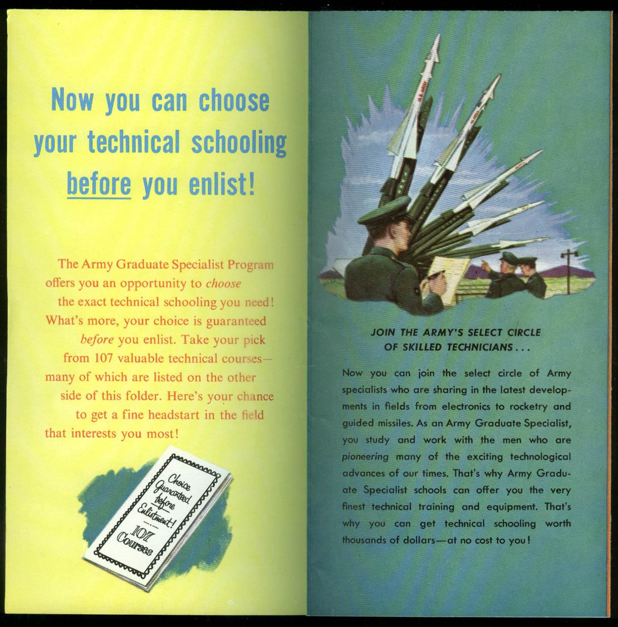 US Army Pre-Enlistment Special High School Grads & Seniors folder 1960s