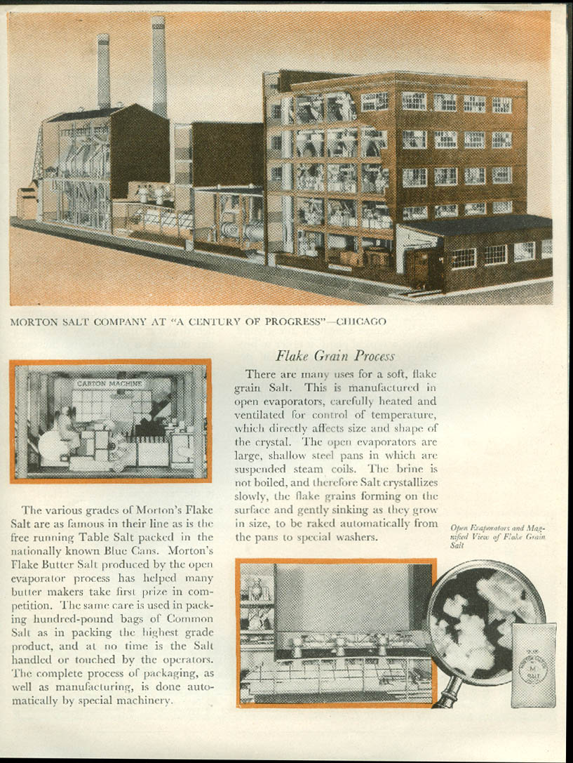 Chicago Century of Progress The Story of Morton Salt brochure 1933