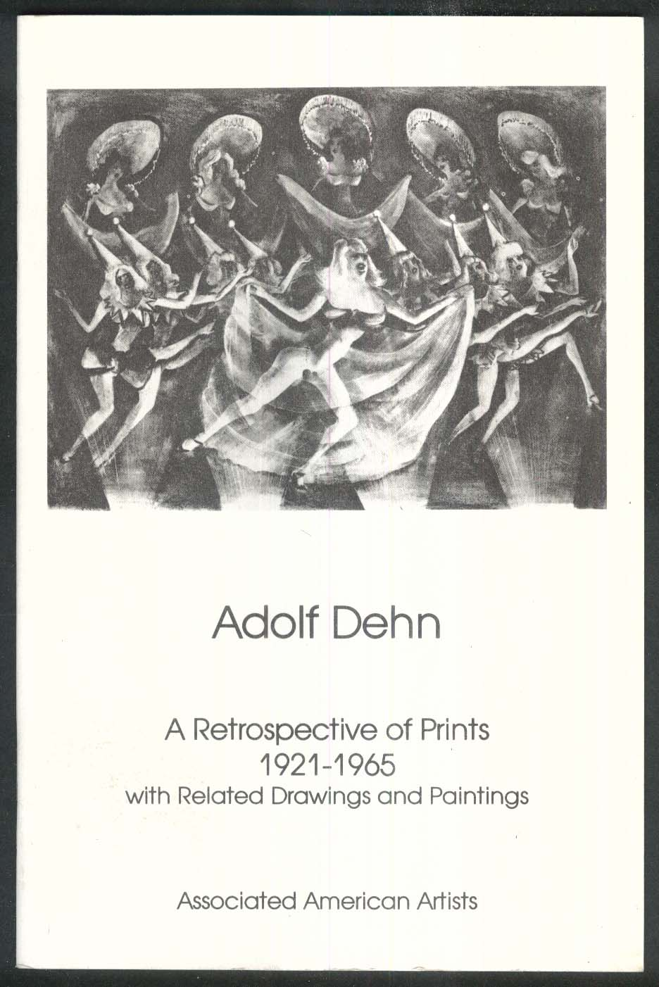 Adolf Dehn: Retrospective of Prints art exhibition catalog 1988