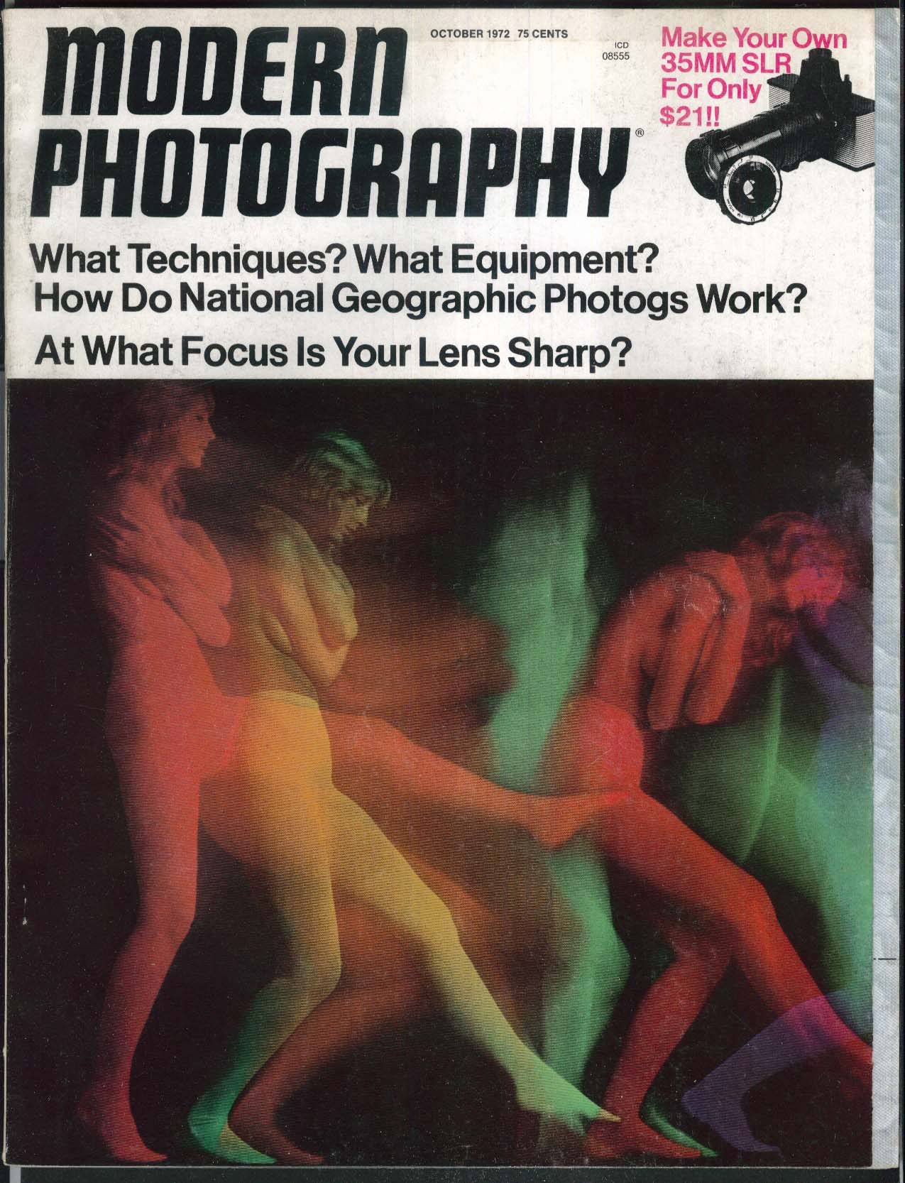 MODERN PHOTOGRAPHY National Geographic Glossy Prints Pentacon Loading ++ 10 1972