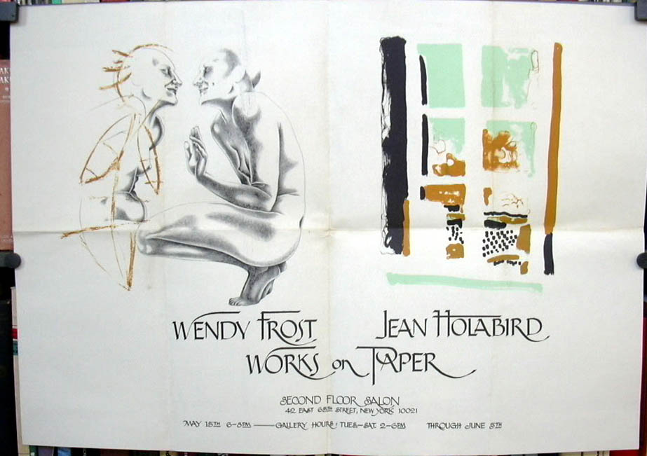 Wendy Frost Jean Holabird Works on Paper art exhibit poster undated New York