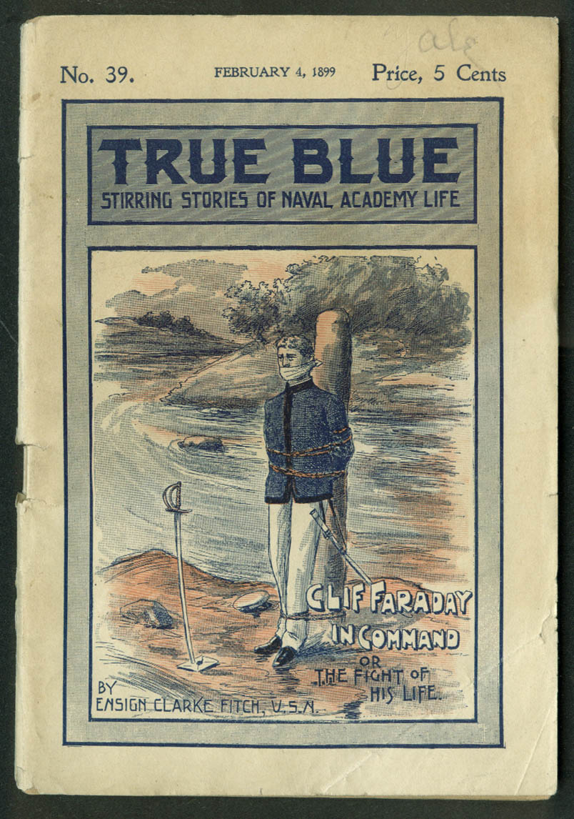 TRUE BLUE Upton Sinclair as Clarke Fitch #39 Clif Faraday in Command 2/4 1899