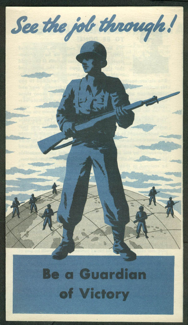 See the Job Through! Join the Regular US Army Now folder 1945