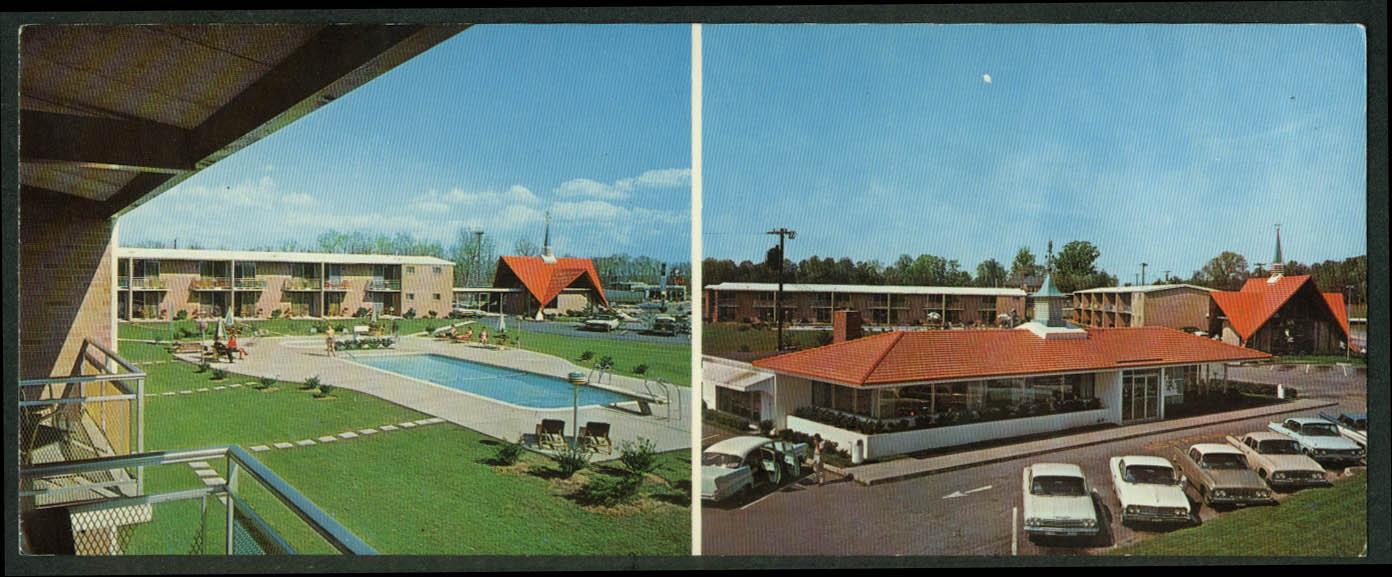 Howard Johnson's Motor Lodge & Restaurant Greensboro NC postcard 1960s