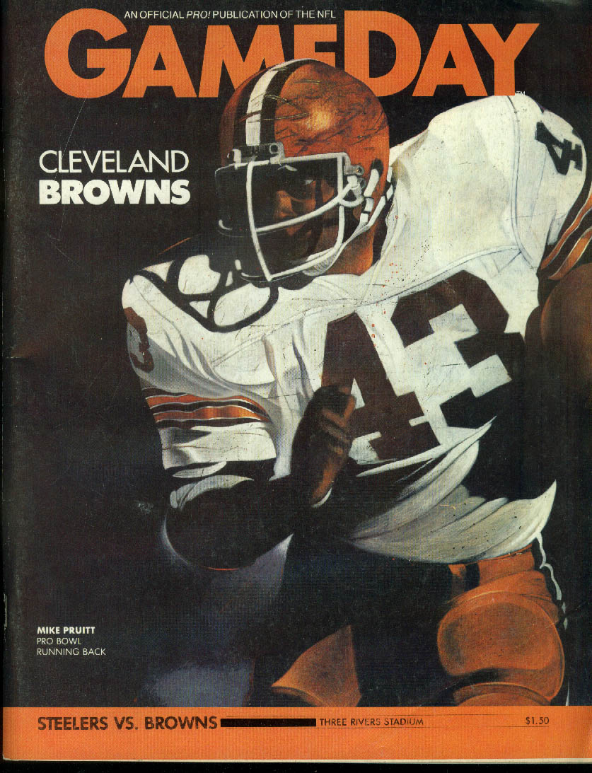 Cleveland Browns at Pittsburgh Steelers GAMEDAY Program Magazine 1/2 1983