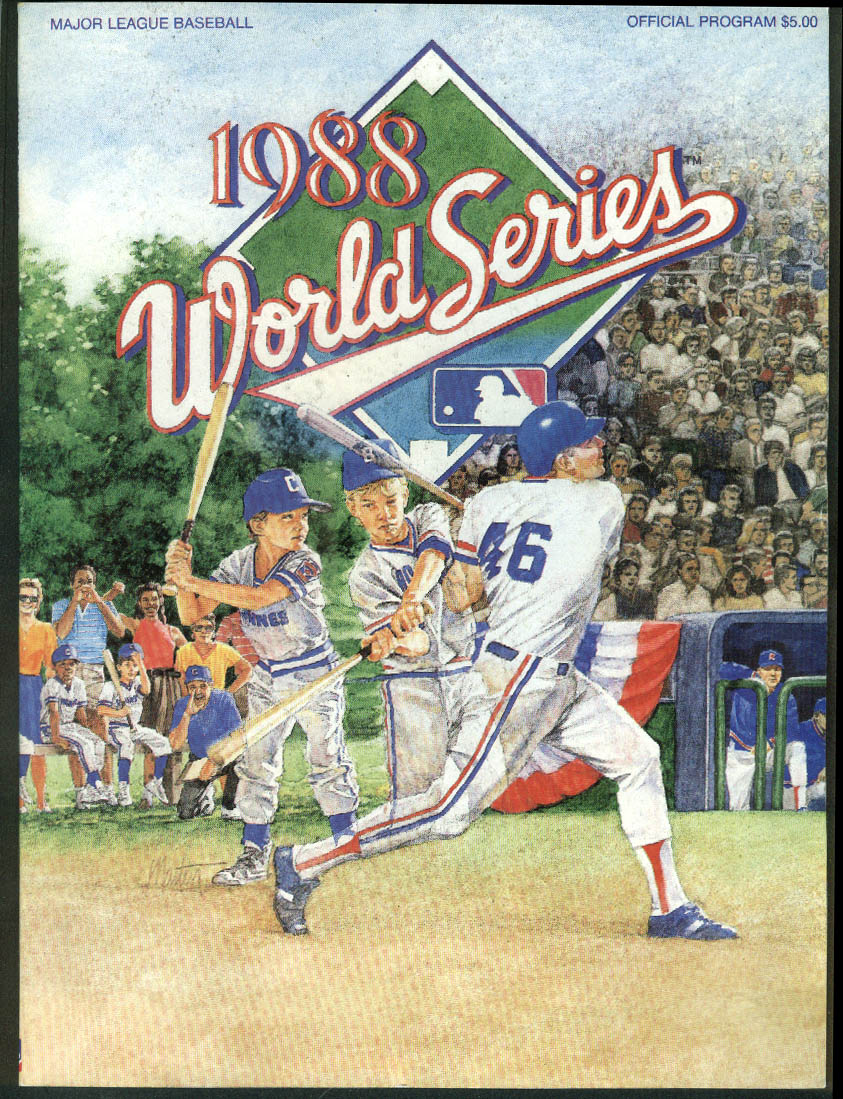 1988 World Series Official Program Red Sox Angels Mets Dodgers