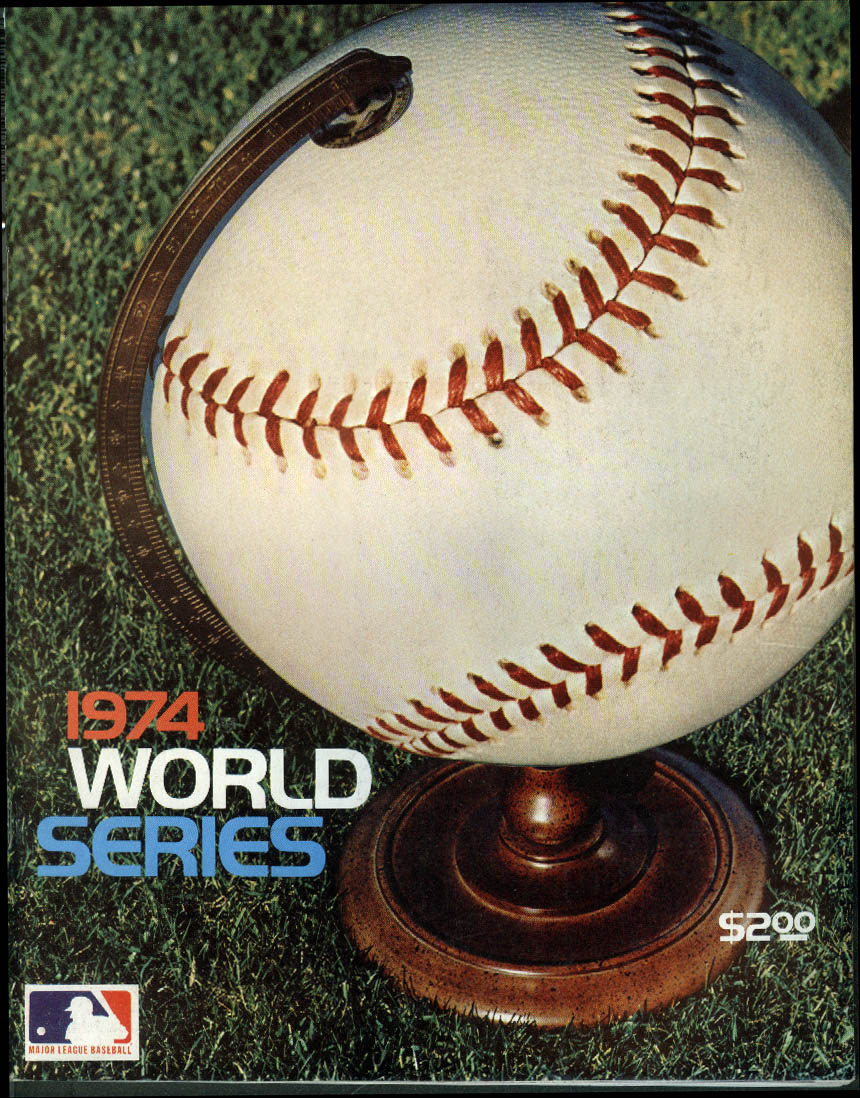 1974 World Series Official Program Pirates Dodgers A's Orioles