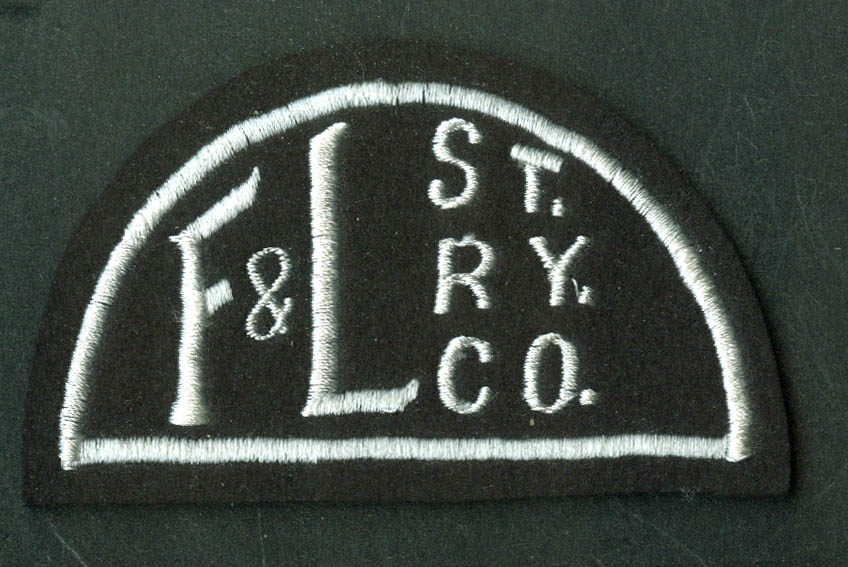 Fitchburg & Leominster Street Railray unused uniform embroidered patch