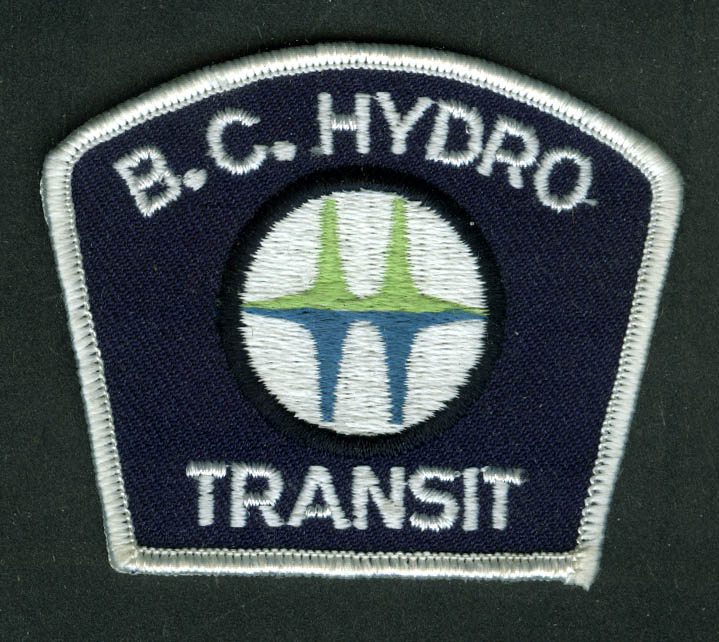 B C Hydro Transit unused bus uniform embroidered patch Canada